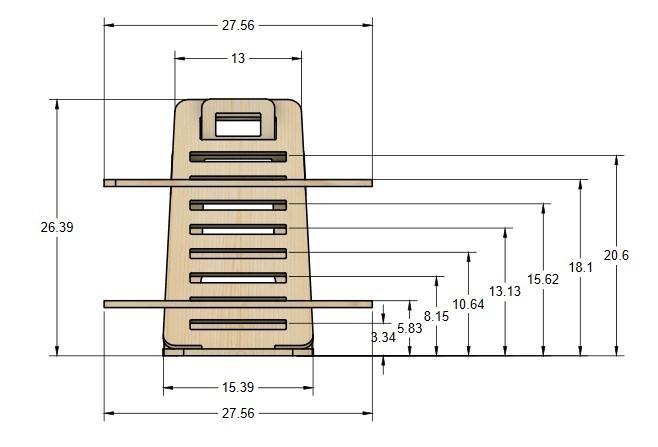 hylo desk dimensions